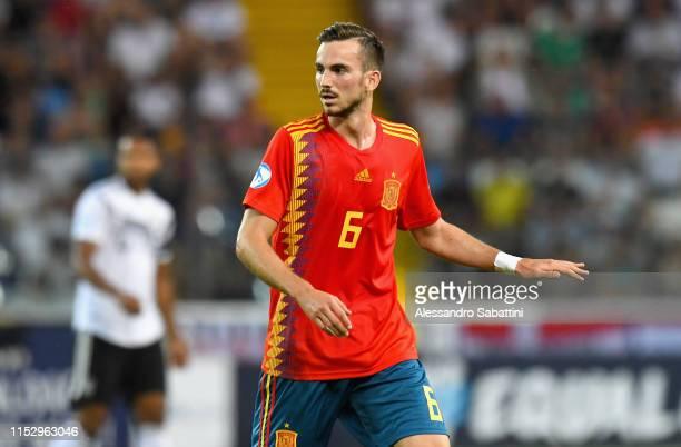 Fabián Ruiz of Spain looks on during the 2019 UEFA U21 Final between Spain and Germanyat Stadio Friuli on June 30 2019 in Udine Italy