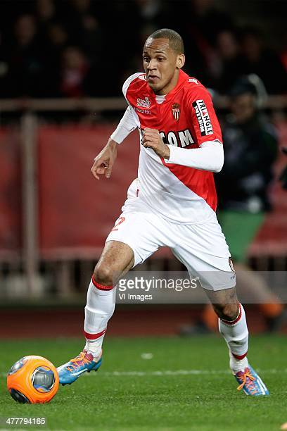 Fabinho of AS Monaco during the France Ligue 1 match between AS Monaco and Paris SaintGermain at Stade Louis II on february 9 2014 in Monaco France
