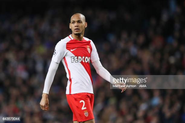 Fabinho of AS Monaco during the UEFA Champions League Round of 16 first leg match between Manchester City FC and AS Monaco at Etihad Stadium on...