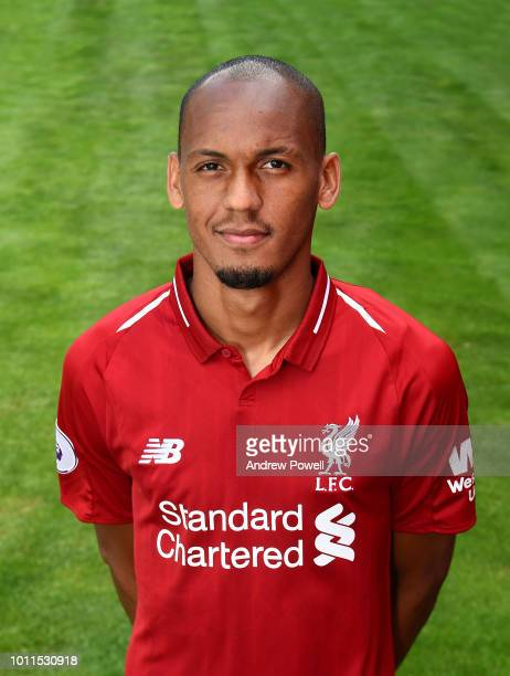 Fabinho of Liverpool during a portrait shoot at Melwood Training Ground on August 5 2018 in Liverpool England