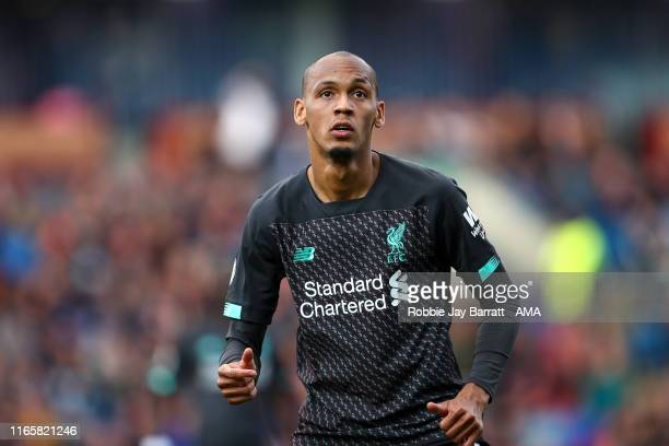 Fabinho of Liverpool during the Premier League match between Burnley FC and Liverpool FC at Turf Moor on August 31 2019 in Burnley United Kingdom
