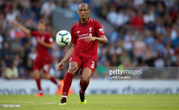 Fabinho of Liverpool during the PreSeason Friendly between Blackburn Rovers and Liverpool at Ewood Park on July 19 2018 in Blackburn England