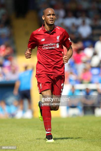 Fabinho of Liverpool during the Preseason friendly between Chester FC and Liverpool on July 7 2018 in Chester United Kingdom