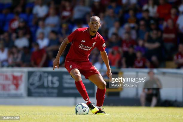 Fabinho of Liverpool during the Preseason friendly between Chester City and Liverpool at Swansway Chester Stadium on July 7 2018 in Chester United...
