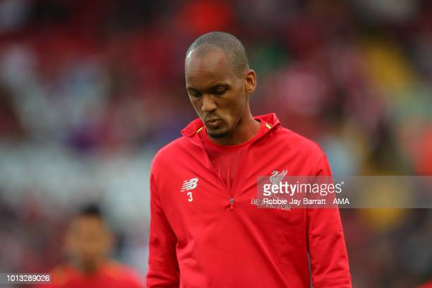 Fabinho of Liverpool during the preseason friendly between Liverpool and Torino at Anfield on August 7 2018 in Liverpool England