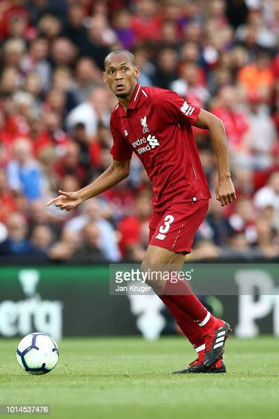 Fabinho of Liverpool during the preseason friendly match between Liverpool and Torino at Anfield on August 7 2018 in Liverpool England