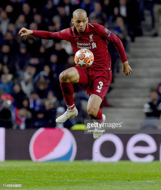 Fabinho of Liverpool during the UEFA Champions League Quarter Final second leg match between Porto and Liverpool at Estadio do Dragao on April 17,...