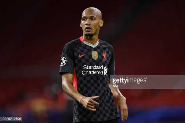 AMSTERDAM Fabinho of Liverpool FC during the UEFA Champions League match in group D between Ajax Amsterdam and Liverpool FC at the Johan Cruijff...
