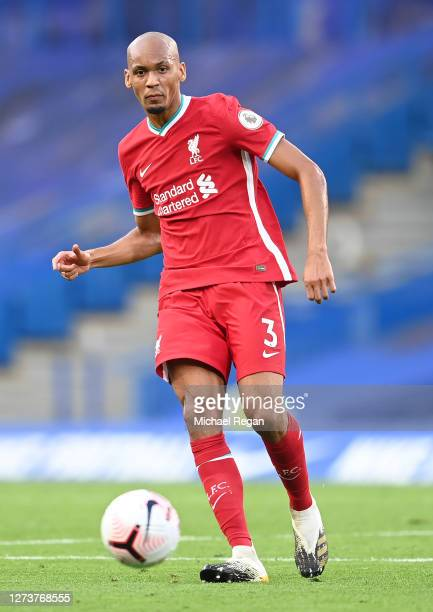 Fabinho of Liverpool in action during the Premier League match between Chelsea and Liverpool at Stamford Bridge on September 20, 2020 in London,...