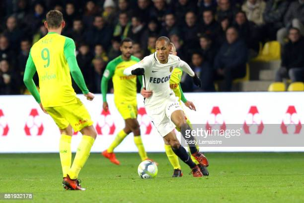 Fabinho of Monaco during the Ligue 1 match between FC Nantes and AS Monaco at Stade de la Beaujoire on November 29 2017 in Nantes