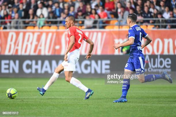 Fabinho of Monaco during the Ligue 1 match between Troyes AC and AS Monaco at Stade de l'Aube on May 19 2018 in Troyes
