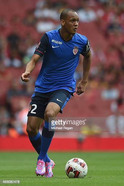 Fabinho of Monaco in action during the Emirates Cup match between Valencia and AS Monaco at the Emirates Stadium on August 2 2014 in London England