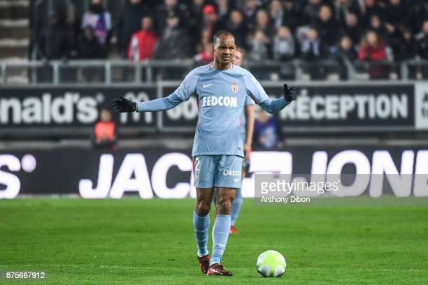 Fabinho of Monaco looks dejected during the Ligue 1 match between Amiens SC and AS Monaco at Stade de la Licorne on November 17 2017 in Amiens