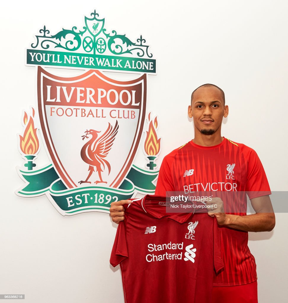 Liverpool Unveil New Signing Fabinho : Nyhetsfoto