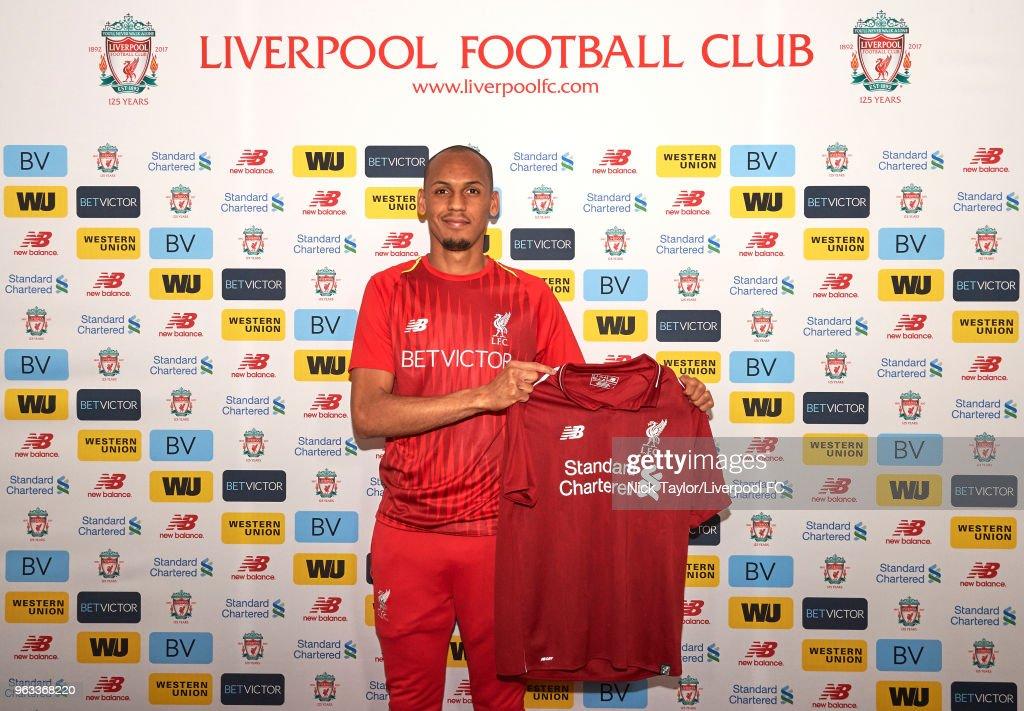 Liverpool Unveil New Signing Fabinho : News Photo