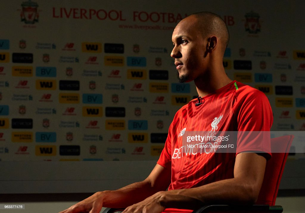 Liverpool Unveil New Signing Fabinho : News Photo