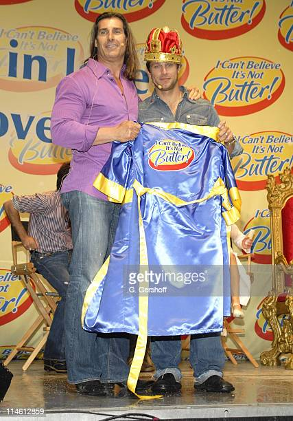 Fabio and Greg Vaughan winner during Soap Stars Compete in Love Games to Become the New I Can't Believe It's Not Butter Spokesman at Madison Square...