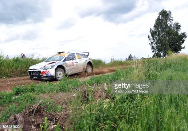 Fabio Andolfi ITA Manuel Fenoli ITA ACI TEAM ITALIA during the WRC Orlen 74 Rally Poland on July 01 2017 in Mikolajki Poland