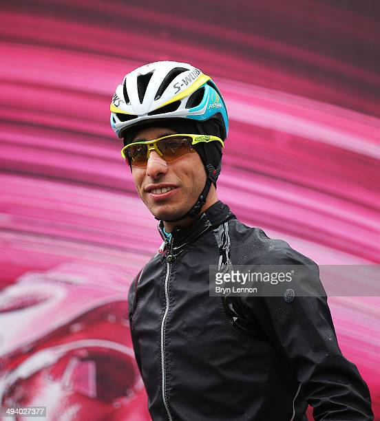 Fabio Aru of Italy and Astana Pro Team and winner of Giro d'Italia's 15th Stage at the start of the sixteenth stage of the 2014 Giro d'Italia a 139km...