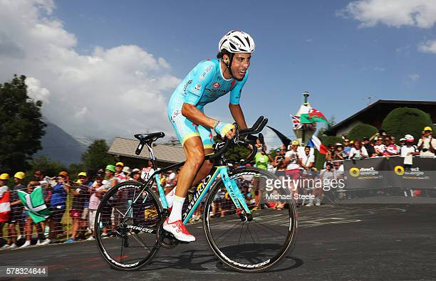 Fabio Aru of Italy and Astana Pro Team rides during stage eighteen of the 2016 Le Tour de France from Sallanches to Megeve on July 21 2016 in Megeve...