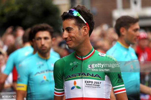 Fabio Aru of Italy and Team Astana rides during the team presentation for the 2017 Le Tour de France on June 29 2017 in Duesseldorf Germany