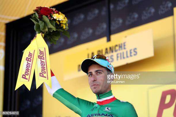 Fabio Aru of Italy and the Astana Pro Cycling team won stage five of the 2017 Tour de France a 1605km road stage from Vittel to La Planche des Belles...