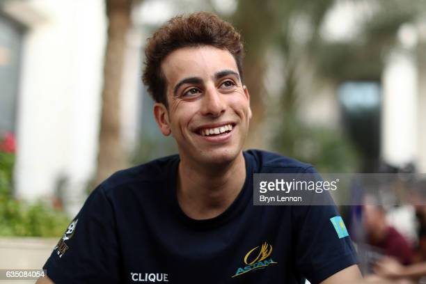 Fabio Aru of Italy and the Astana Pro Team chats to journalists ahead of the 2017 Tour of Oman on February 13 2017 in Muscat Oman