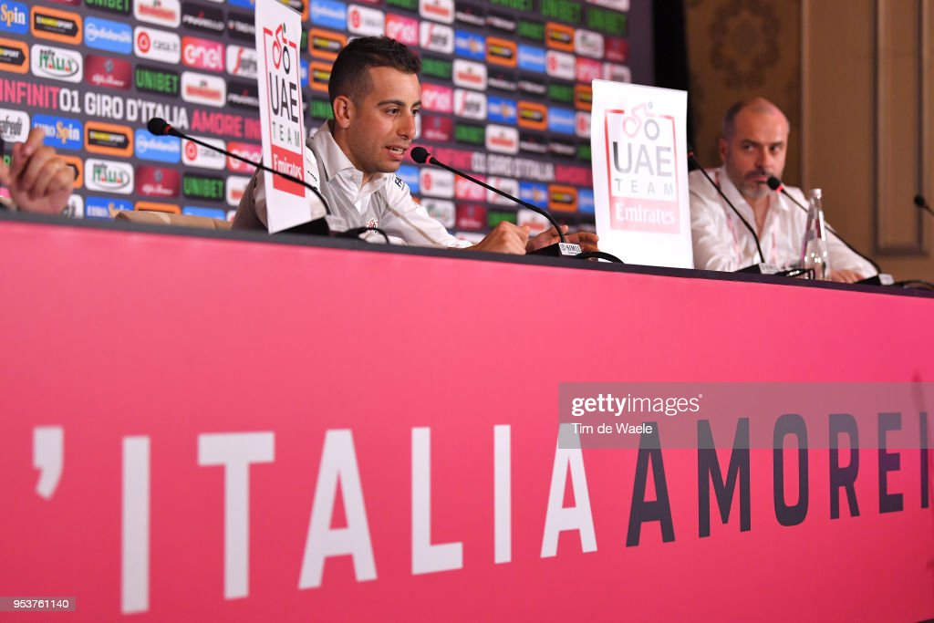 Fabio Aru of Italy and UAE Team Emirates during the 101th Tour of Italy 2018 UAE Team Emirates Press Conference on May 2, 2018 in Jerusalem, Israel.