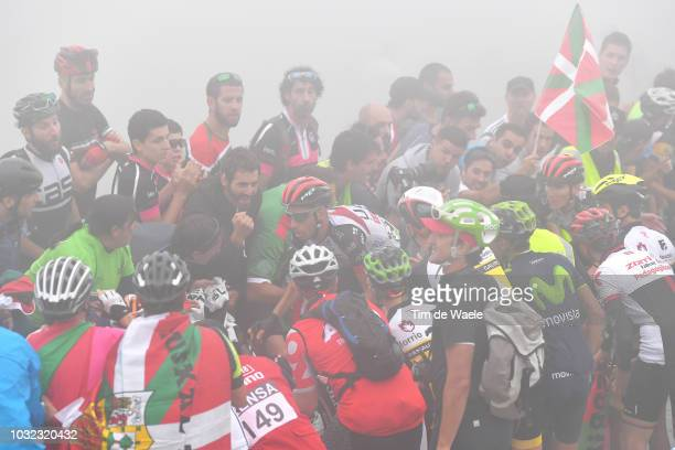 Fabio Aru of Italy and UAE Team Emirates / Fans / Public / during the 73rd Tour of Spain 2018, Stage 17 a 157km stage from Getxo to Alto del Balcon...