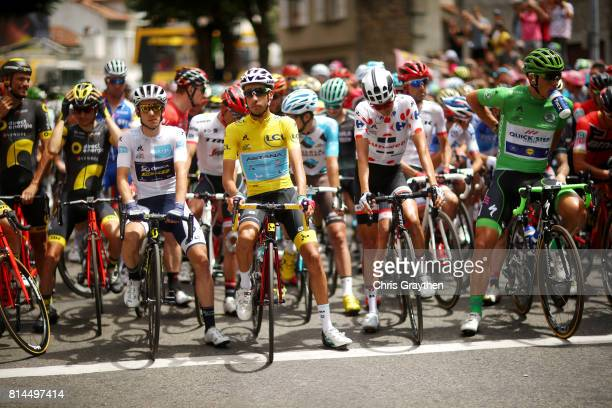 Fabio Aru of Italy riding for Astana Pro Team in the leader's jersey waits at the start line during stage 13 of the 2017 Le Tour de France a 101km...