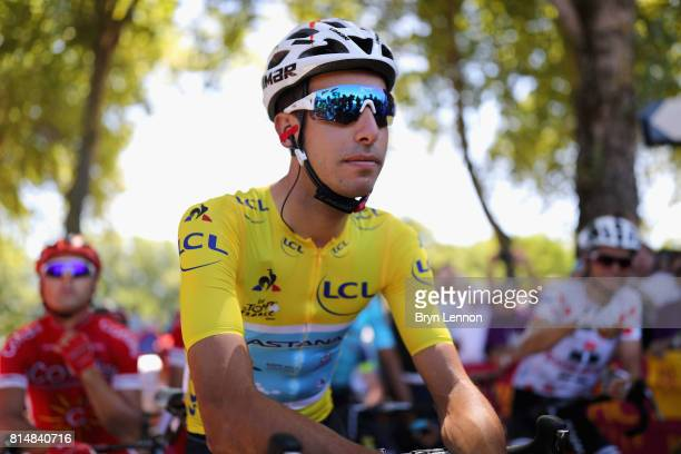 Fabio Aru of Italy riding for Astana Pro Team looks on prior to stage 14 of the Le Tour de France 2017 a 181km stage from Blagnac to Rodez on July 15...