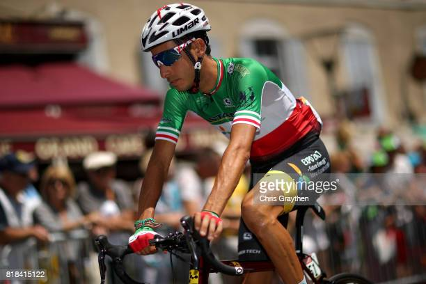 Fabio Aru of Italy riding for Astana Pro Team rides to the start of stage 16 of the 2017 Le Tour de France a 165km stage from Le PuyenVelay to...