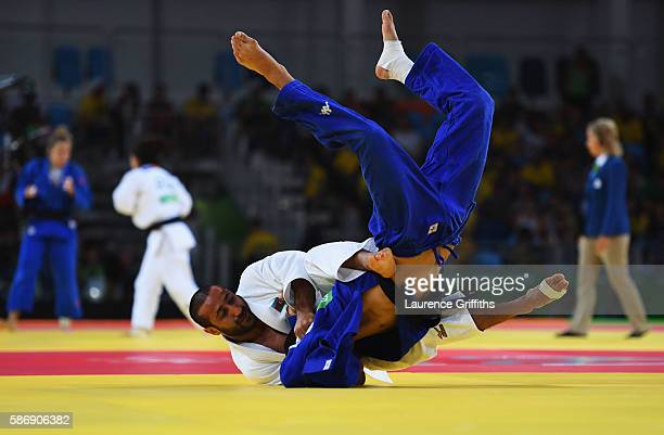 Fabio Basile of Italy and Nijat Shikhalizada of Azerbaijan compete during the Men's 66kg Elimination round of 16 on Day 2 of the Rio 2016 Olympic...