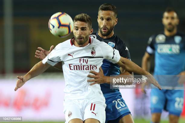 Fabio Borini of AC Milan in action during the serie A match between Empoli and AC Milan at Stadio Carlo Castellani on September 27 2018 in Empoli...
