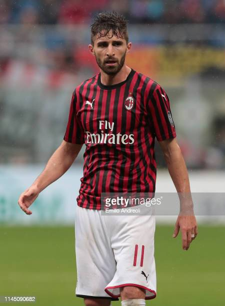 Fabio Borini of AC Milan looks on during the Serie A match between AC Milan and Frosinone Calcio at Stadio Giuseppe Meazza on May 19, 2019 in Milan,...