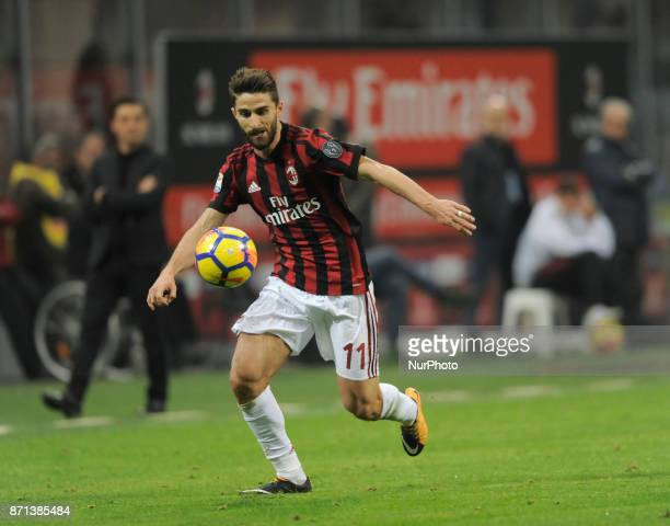 Fabio Borini of Milan player and Vincenzo Montella of Milan coach during the match valid for Italian Football Championships Serie A 20172018 between...