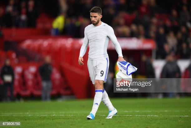 Fabio Borini of Sunderland looks dejected during the Premier League match between Middlesbrough and Sunderland at the Riverside Stadium on April 26...