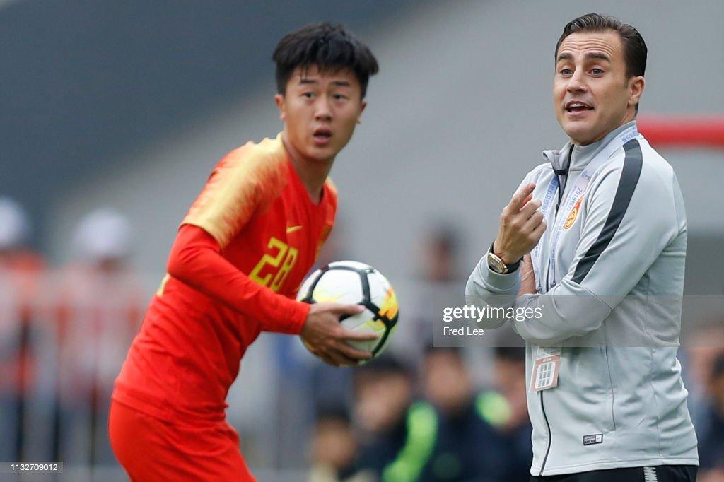 China v Uzbekistan - 2019 China Cup International Football Championship : News Photo