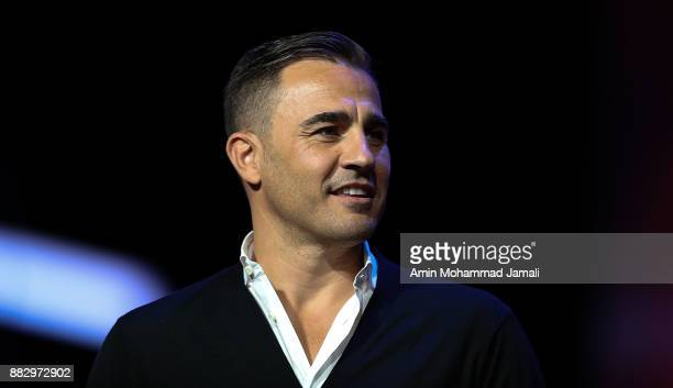 Fabio Cannavaro looks on after the rehearsal for the 2018 FIFA World Cup Draw at the Kremlin on November 29 2017 in Moscow Russia