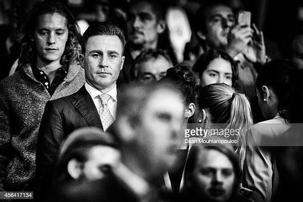 Fabio Cannavaro looks on prior to the Group F UEFA Champions League match between Paris Saint-Germain v FC Barcelona held at Parc des Princes on...