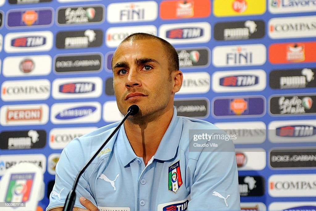Fabio Cannavaro of Italy during the Italy Press Conference on May 24, 2010 in Sestriere near Turin, Italy.