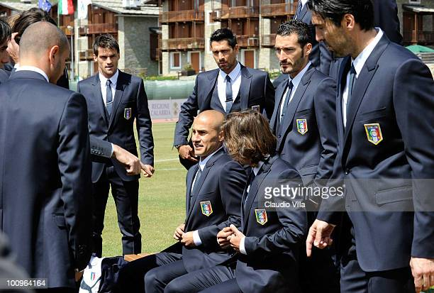Fabio Cannavaro of Italy during the official Fifa World Cup 2010 portrait session on May 26 2010 in Sestriere near Turin Italy