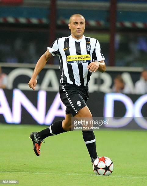 b4db3b258 Fabio Cannavaro of Juventus in action during the Luigi Berlusconi trophy  played against Milan at Giuseppe