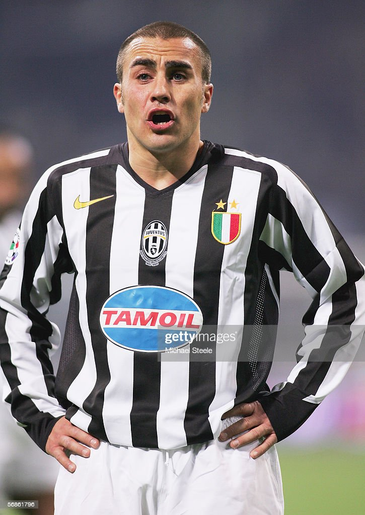 Fabio Cannavaro of Juventus in action during the Serie A match between Inter Milan and Juventus at the Stadio San Siro on February 12, 2006 in Milan, Italy.