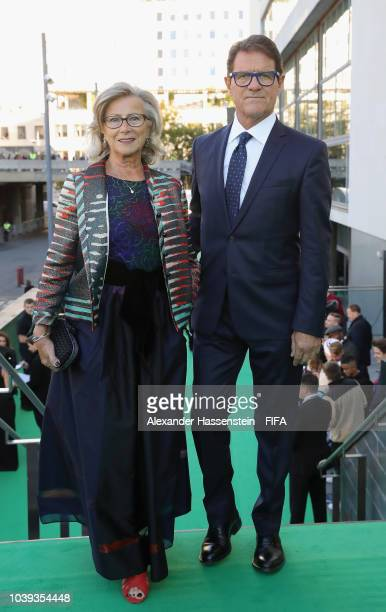 Fabio Capello and his wife Laura Ghisi arrives at the Green Carpet during The Best FIFA Football Awards at Royal Festival Hall on September 24 2018...