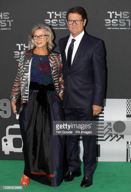 Fabio Capello and wife Laura Ghisi arrive for the Best FIFA Football Awards 2018 at the Royal Festival Hall London