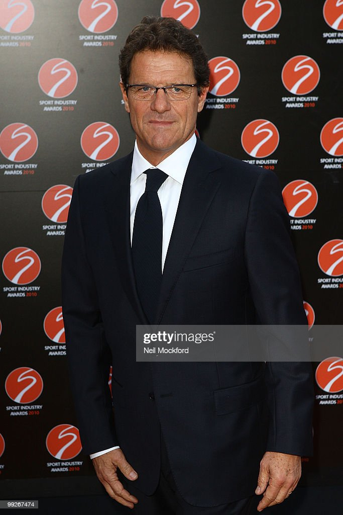 Fabio Capello attends the Sport Industry Awards at Battersea Evolution on May 13, 2010 in London, England.