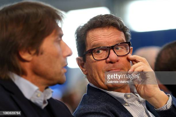 "Fabio Capello during the ""Golden Bench"" award at Centro Tecnico Federale di Coverciano on November 12, 2018 in Florence, Italy."