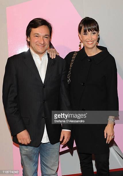 Fabio Caressa and Benedetta Parodi attend A Magazine Celebrates 5th Anniversaryat Terrazza Martini on May 5 2011 in Milan Italy
