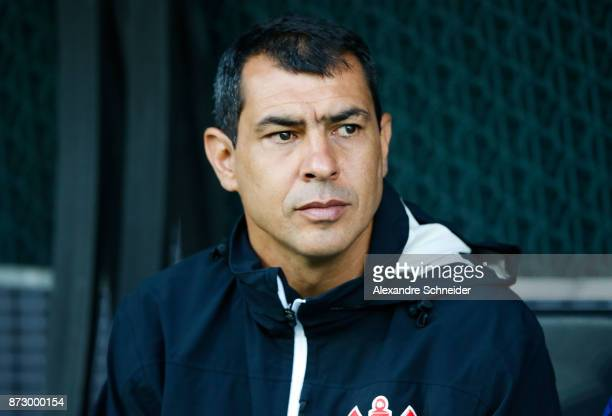 Fabio Carille head coach of Corinthiani in action during the match between Corinthians and Avai for the Brasileirao Series A 2017 at Arena...